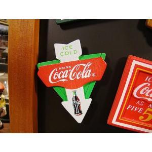 コカ・コーラブランド 昔のアドバタイジングのウッドマグネット(アローカット) アメリカ雑貨 アメリカ...