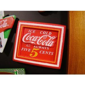 コカ・コーラブランド 昔のアドバタイジングのウッドマグネット(5セント) アメリカ雑貨 アメリカン雑...