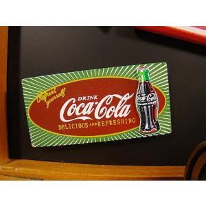 コカ・コーラブランド 昔のアドバタイジングのウッドマグネット(サンバースト)  アメリカ雑貨 アメリ...