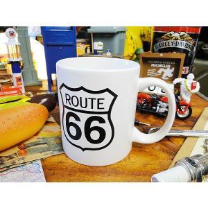 ルート66のマグカップ(ホワイト) アメリカ雑貨 アメリカン雑貨 おしゃれ|candytower