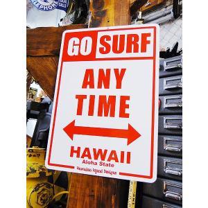 ハワイアンサインボード(ゴーサーフ) ハワイ雑貨 ハワイアン雑貨 壁掛け おしゃれ インテリア 人気 アメリカン雑貨 アメリカ雑貨|candytower