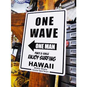 ハワイアンサインボード(ワンウェーブエンジョイサーフィン) ハワイ雑貨 ハワイアン雑貨 壁掛け アメリカン雑貨 アメリカ雑貨|candytower