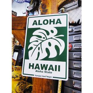 ハワイアンサインボード(モンステラ) ハワイ雑貨 ハワイアン雑貨 壁掛け おしゃれ インテリア 人気 アメリカン雑貨 アメリカ雑貨|candytower