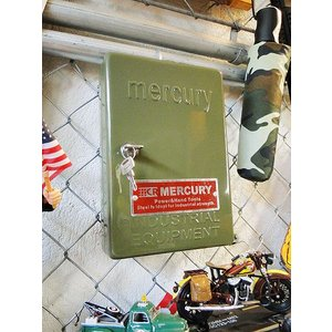 マーキュリー キーボックス(カーキ) ■ アメリカン雑貨 アメリカ雑貨 MERCURY おしゃれ 人気 男前 生活雑貨 壁掛け 玄関|candytower