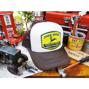 ガレージメッシュキャップ(ジョンディアー)アメリカ雑貨 アメリカン雑貨 帽子 メンズ ブランド おしゃれ 人気 ガレージ ファッション アメカジ|candytower
