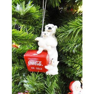 コカ・コーラブランド クリスマスオーナメント(ポーラベアー・チェストクーラー/レジン製) アメリカ雑貨 アメリカン雑貨|candytower