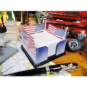 星条旗のブロックメモホルダー アメリカ雑貨 アメリカン雑貨|candytower