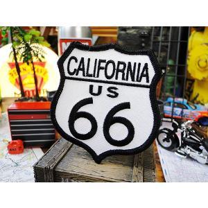 ルート66のワッペン(カリフォルニア) アメリカ雑貨 アメリカン雑貨 アイロン キャラクター ファッション ロゴ おしゃれ 人気 ブランド ミニ candytower