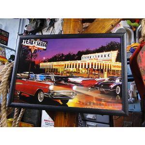 LEDピクチャーフレーム(フィフティーズダイナー) アメリカ雑貨 アメリカン雑貨|candytower