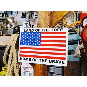 アメリカのプラスチックサインボード ヘビーオンスタイプ(星条旗) アメリカ雑貨 アメリカン雑貨|candytower