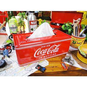 コカ・コーラブランド ティッシュケース アメリカ雑貨 アメリカン雑貨  coca-colaコカコーラ グッズ coke ティッシュカバー おしゃれ インテリア|candytower