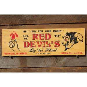 アメリカンガレージのミニウッドサイン(レッドデビル) アメリカ雑貨 アメリカン雑貨 壁掛け インテリア おしゃれな部屋 人気 木製看板|candytower
