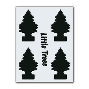 リトルツリーのカットアウトステッカー B(ブラック) アメリカ雑貨 アメリカン雑貨|candytower