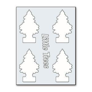 リトルツリーのカットアウトステッカー B(ホワイト) アメリカ雑貨 アメリカン雑貨|candytower