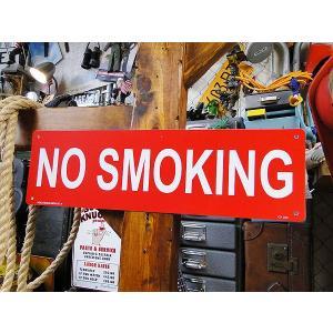 アメリカのプラスチックサインボード ロングサイズ(禁煙) アメリカ雑貨 アメリカン雑貨 サインボード 看板|candytower