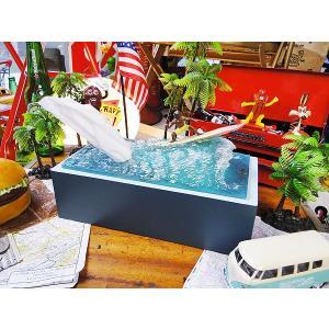 サーファークレーズ ティッシュケース アメリカ雑貨 アメリカン雑貨 人気 ハワイグッズ ハワイアン雑貨 おしゃれ|candytower