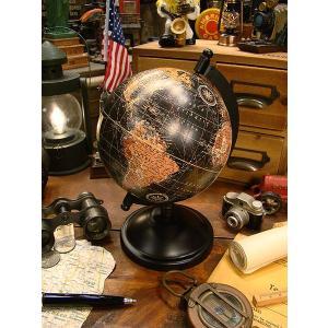 アンティークグローブ ブラックオーシャン 地球儀(Sサイズ) ■ アメリカン雑貨 アメリカ雑貨 インテリア  おしゃれ 英語 ミニ 卓上 世界地図|candytower