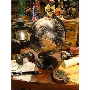 アンティークグローブ ブラックオーシャン 地球儀(Mサイズ) アメリカン雑貨