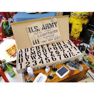 U.S.ミリタリーステンシルスタンプ 42Pセット(5cm/2インチ)XLサイズ(2インチ/5cmXLサイズ) アメリカ雑貨 アメリカン雑貨|candytower
