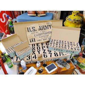 U.S.ミリタリーステンシルスタンプ (4サイズオールセット) アメリカ雑貨 アメリカン雑貨|candytower