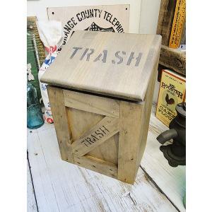 ミニ トラッシュボックス(Bタイプ/茶) アメリカ雑貨 アメリカン雑貨 ゴミ箱 おしゃれ カントリー雑貨 ナチュラル|candytower
