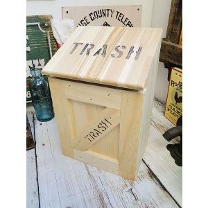 ミニ トラッシュボックス(Bタイプ/無塗装) アメリカ雑貨 アメリカン雑貨 ゴミ箱 おしゃれ カントリー雑貨 ナチュラル|candytower