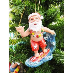 ハワイアン・クリスマスオーナメント(ビッグウェーブサンタ) アメリカン雑貨 アメリカ雑貨|candytower