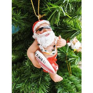 ハワイアン・クリスマスオーナメント(サーフボードサンタ) アメリカン雑貨 アメリカ雑貨 candytower
