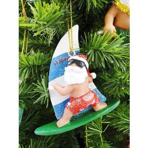 ハワイアン・クリスマスオーナメント(ウィンドサーフィンサンタ) アメリカン雑貨 アメリカ雑貨|candytower