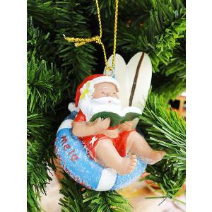 ハワイアン・クリスマスオーナメント(ブックサンタ) アメリカン雑貨 アメリカ雑貨|candytower