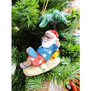 ハワイアン・クリスマスオーナメント(アンダーザツリーサンタ) アメリカン雑貨 アメリカ雑貨|candytower