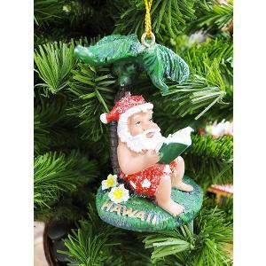 ハワイアン・クリスマスオーナメント(リーディングサンタ) アメリカン雑貨 アメリカ雑貨|candytower