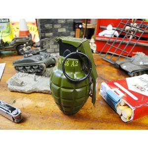 ミリタリー好きだとこの形を見て素通りはできないよね! 手榴弾型のターボライターです。  昔の戦争映画...