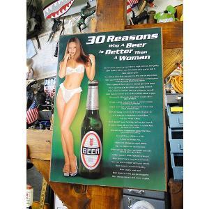 ビールが女よりイイ30の理由のウッドボード アメリカ雑貨 アメリカン雑貨|candytower