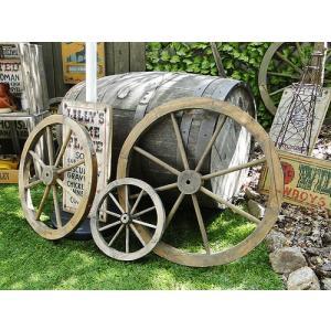 【全国送料無料】 アンティーク木製車輪 大中小3個セット(ブラウン) アメリカン雑貨 アメリカ雑貨 candytower
