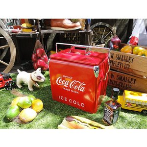 【全国送料無料】 コカ・コーラブランド レトロピクニックストレージ(レッド) アメリカ雑貨 アメリカン雑貨|candytower