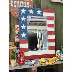 【全国送料無料】 星条旗のウォールミラー Lサイズ アメリカ雑貨 アメリカン雑貨 candytower