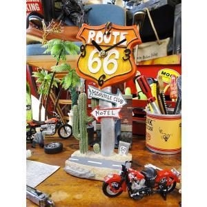 ロードサイン・テーブルクロック(ルート66) アメリカ雑貨 アメリカン雑貨|candytower