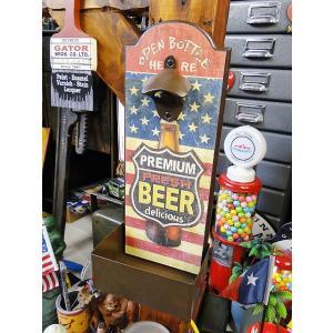 ビアーボード・ウォールハンギングオープナー(星条旗) アメリカ雑貨 アメリカン雑貨 ウォールボトルオープナー 栓抜き 壁掛け bar カフェ|candytower