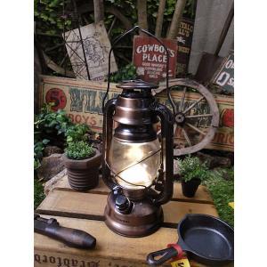 ランタン型LEDランプ(ブロンズ/Lサイズ) アメリカン雑貨...