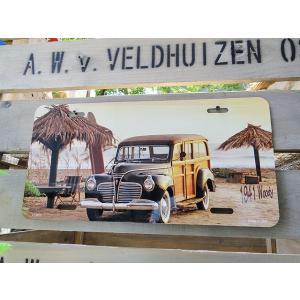 ハワイアン・ライセンスプレート(ウッディワゴン) アメリカ雑貨 アメリカン インテリア 壁飾り おし...