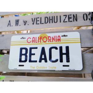 カリフォルニア州のライセンスプレート(ビーチ) アメリカ雑貨 アメリカン インテリア 壁飾り おしゃれな雑貨屋さん 通販 ガレージ|candytower
