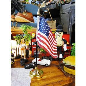 星条旗のミニフラッグ+スタンド付き(ヘヴィータイプ) アメリカ雑貨 アメリカン雑貨 旗|candytower