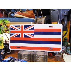 ハワイ州旗のライセンスプレート アメリカ雑貨 アメリカン雑貨 インテリア 壁飾り おしゃれな雑貨屋さ...