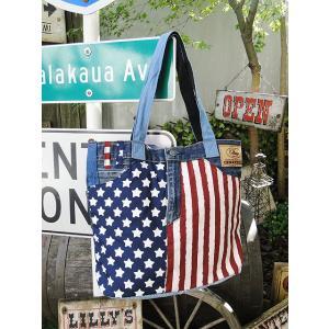 星条旗デニムのトートバッグ アメリカ雑貨 アメリカン雑貨 旗|candytower