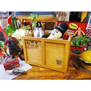 コンテナ木箱の小物入れ(スタンダードS/ブラウン) アメリカン雑貨 アメリカ雑貨 candytower