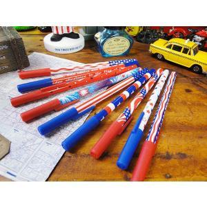 星条旗のボールペン 9本アソートセット アメリカン雑貨 アメリカ雑貨|candytower