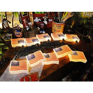 星条旗の10連パーティーライト アメリカ雑貨 アメリカン雑貨 candytower