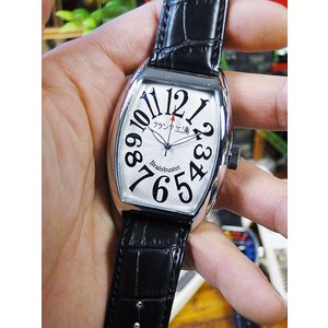 天才時計師フランク三浦の腕時計 六号機(改)デカ時計タイプマグナム(ハイパーホワイト) アメリカ雑貨 アメリカン雑貨|candytower