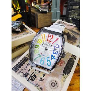 天才時計師フランク三浦の腕時計 六号機(改)デカ時計タイプマグナム(レインボーホワイト) アメリカ雑貨 アメリカン雑貨|candytower
